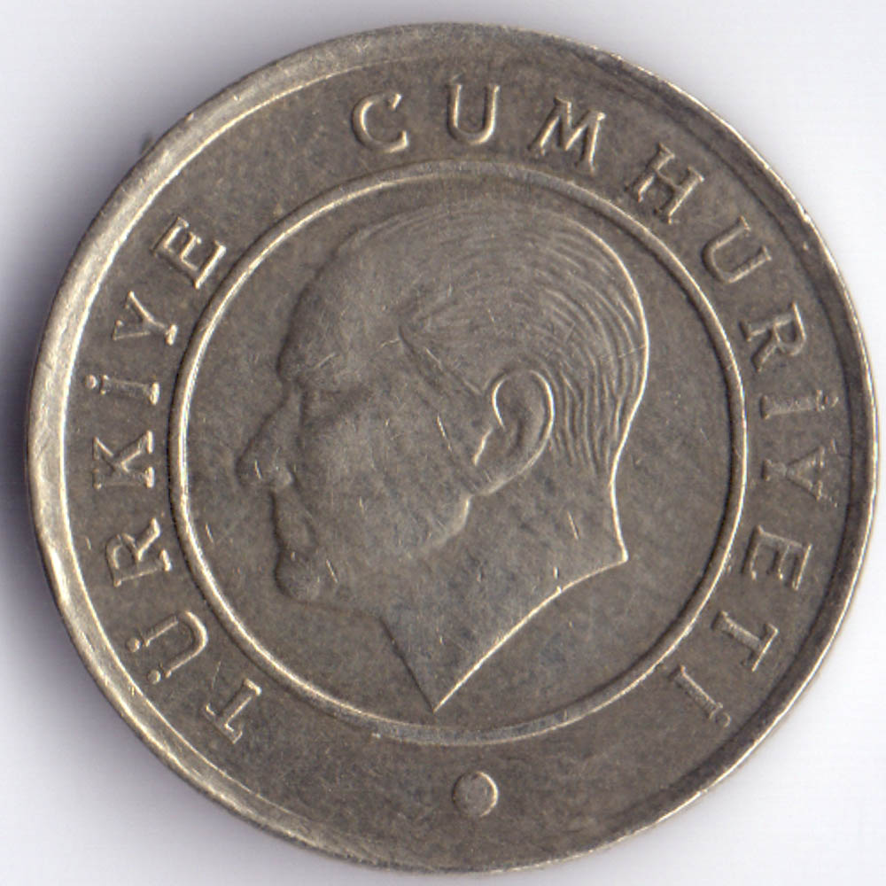 25 курушей 2009 Турция - 25 kurus 2009 Turkey, из оборота
