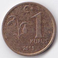 1 куруш 2013 Турция - 1 kurus 2013 Turkey, из оборота