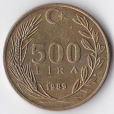 500 лир 1989 Турция - 500 lira 1989 Turkey