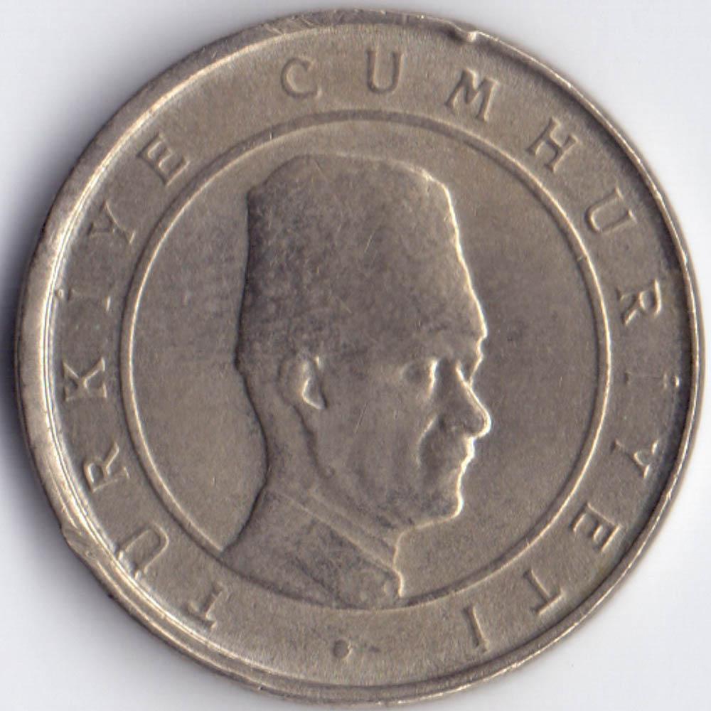100.000 лир 2002 Турция - 100.000 lire 2002 Turkey, из оборота
