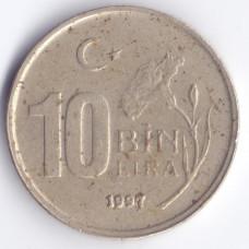 10.000 лир 1997 Турция- 10.000 lire 1997 Turkey, из оборота