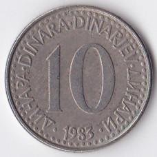 10 динаров 1983 Югославия - 10 dinara 1983 Yugoslavia