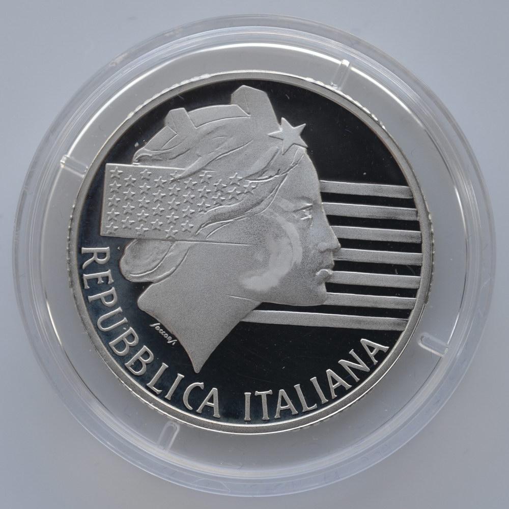 10000 лир 1994 Италия. Чемпионат мира по футболу 1994. В футляре.