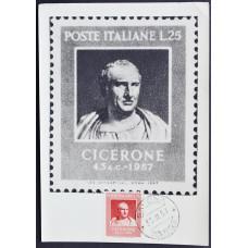Открытка (картмаксимум) - Cicerone, Italy. Цицерон, Италия