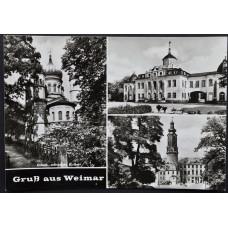 Открытка - Gruss aus Weimar. Привет из Веймара. Германия