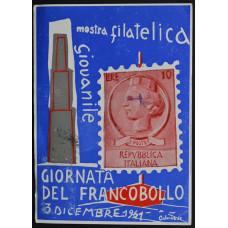 Открытка (картмаксимум) - Филателистическая и нумизматическая выставка, 1961, Италия
