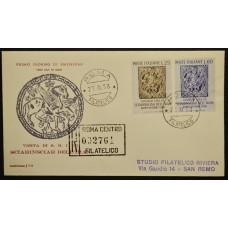 Конверт первого дня (КПД) - Италия, 1958. Визит шаха Ирана в Италию