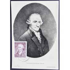 Открытка (картмаксимум) Francesco Giuseppe Haydn, Австрия. Франц Йозеф Гайдн, австрийский композитор