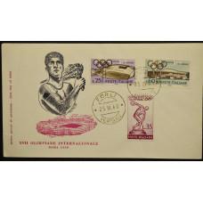 Конверт первого дня (КПД) - Италия, 1960. XVII Олимпийские игры - Рим, Италия