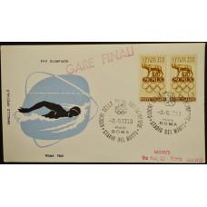 Конверт - Италия, 1960. XVII Олимпийские игры - Рим, Италия. Плавание