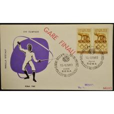 Конверт - Италия, 1960. XVII Олимпийские игры - Рим, Италия. Фехтование