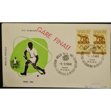Конверт - Италия, 1960. XVII Олимпийские игры - Рим, Италия. Хоккей на траве