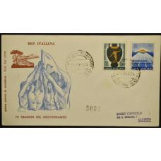 Конверт первого дня (КПД) - Италия, 1963. IV Средиземноморские игры, Неаполь