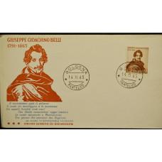 Конверт первого дня (КПД) - Италия, 1963. 100 лет со дня смерти Джузеппе Джоакино Белли