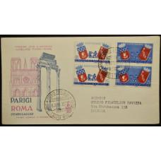 Конверт первого дня (КПД) - Италия, 1959. Культурные связи между Римом и Парижем