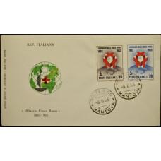Конверт первого дня (КПД) - Италия, 1963. 100 лет со дня основания Красного Креста