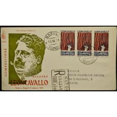 Конверт первого дня (КПД) - Италия, 1958. 100 лет со дня рождения Руджеро Леонкавалло