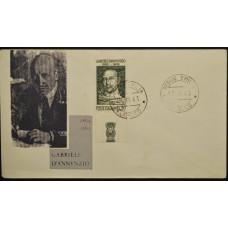 Конверт - Италия, 1963. 100 лет со дня рождения Габриэле Д'Аннунцио