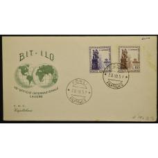 Конверт первого дня (КПД) - Италия, 1959. 40-летие МОТ