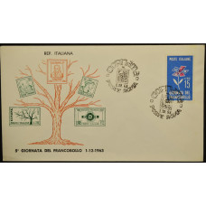 Конверт первого дня (КПД) - Италия, 1963. День печати