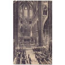 Открытка Westminster abbey (The Choir). Вестминстерское аббатство (Хор). Чистая