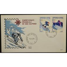 Конверт первого дня (КПД) - Италия, 1970. Чемпионат мира по горнолыжному спорту