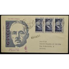 Конверт первого дня (КПД) - Италия, 1958. 100 лет со дня рождения Джакомо Пуччини