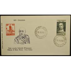 Конверт первого дня (КПД) - Италия, 1963. 100 лет со дня рождения Габриэле Д'Аннунцио