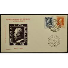 Конверт первого дня (КПД) - Италия, 1959. 100-летие марок Сицилии