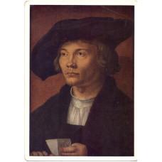 Открытка Альберт Дюрер (1471-1528). Портрет молодого человека. Немецкая школа. Чистая
