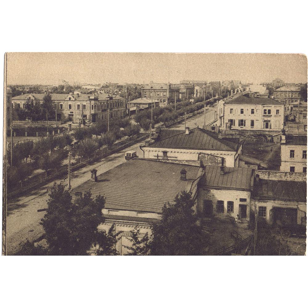 Открытка Новосибирск. Красный проспект. Чистая