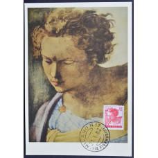 Открытка (картмаксимум) - Testa del Profeta Daniele, Michelangelo, Italy. Пророк Даниил, Микеланджело, Италия