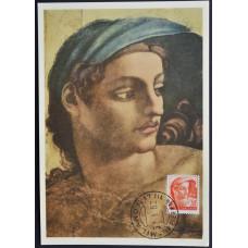 Открытка (картмаксимум) - Figura Decorativa, Michelangelo, Italy. Декоративная фигура, Микеланджело, Италия (3)