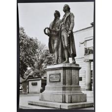 Открытка - Веймар, Памятник Гете и Шиллеру. Германия