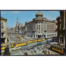 Открытка - Будапешт, Перекресток Кольцевого бульвара и улицы Ракоци. Венгрия
