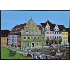 Открытка - Веймар, Ратуша и дом Лукаса Кранаха. Германия