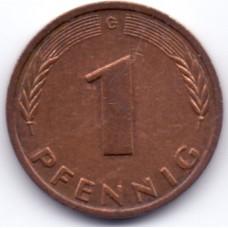 1 пфенниг 1983 Германия - 1 pfennig 1983 Germany, G, из оборота