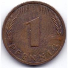 1 пфенниг 1982 Германия - 1 pfennig 1982 Germany, J, из оборота