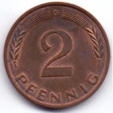 2 пфеннига 1984 Германия - 2 pfenniga 1984 Germany, G, из оборота