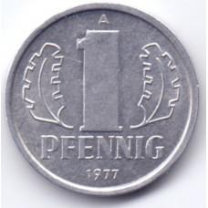 1 пфенниг 1977 Германия (ГДР) - 1 pfennig 1977 Germany (GDR), из оборота