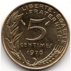 5 сантимов 1976 Франция - 5 centimes 1976 France, из оборота