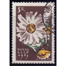 1965, Апрель. Почтовая марка СССР. Цветы, 3 копейки
