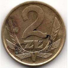 2 злотых 1975 Польша - 2 zloty 1975 Poland, из оборота
