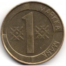 1 марка 1994 Финляндия - 1 markka 1994 Finland, из оборота