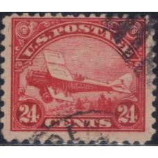 1923, август. Почтовая марка США. Самолет - Авиапочта, 24 цента