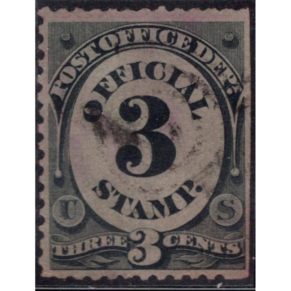 1879. Почтовая марка США. Выпуск почтового отделения, 3 цента