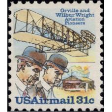 1979, март. Почтовая марка США. Пионеры авиации - братья Райт. Авиапочта, 31 цент