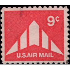 1971, май. Почтовая марка США. Самолет- Авиапочта, 9 центов