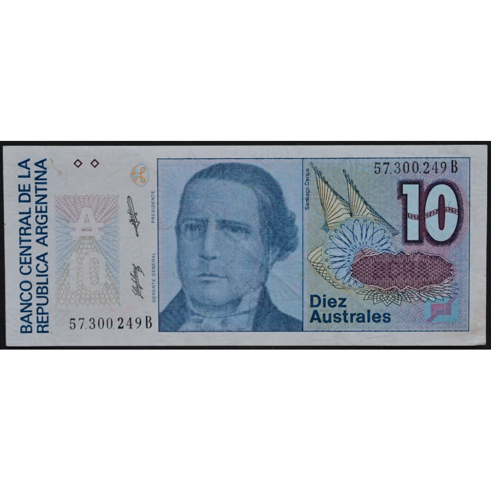 10 Australes Argentina - 10 Аустралей Аргентина