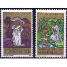 1973, октябрь. Набор почтовых марок Австралии. Рождество
